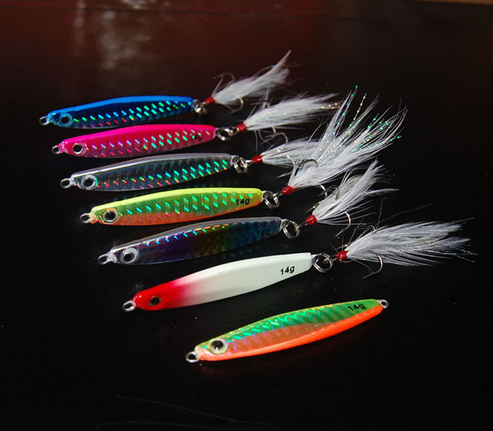 5PCS Deep sea Fishing Lure Metal Jigging Jig Jigbait spoon ...