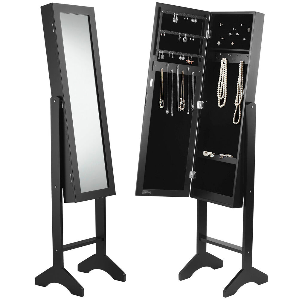 Beautify Black Full Length Floor Standing Mirror Jewellery