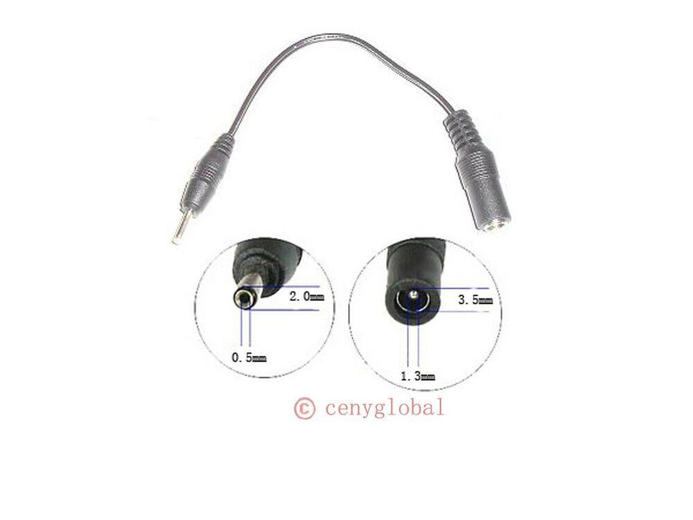 3 5  1 3mm to 2 0  0 5mm power convertor for nokia cellular
