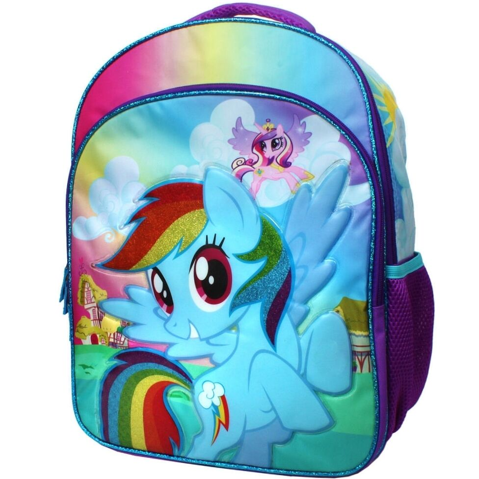 my little pony rainbow dash 16 fullsize backpack w. Black Bedroom Furniture Sets. Home Design Ideas