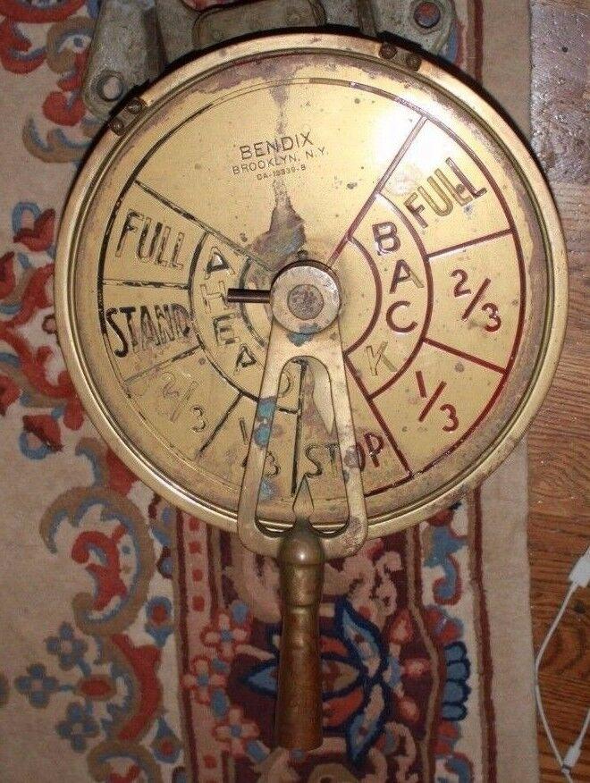 Big Ships Engine Rooms: BENDIX Brass SHIP'S WWII Liberty Ship Style TELEGRAPH