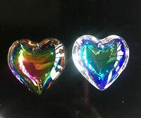6Pcs 45mm Heart-shaped Top quality crystal glass beads for jewelry making DIY