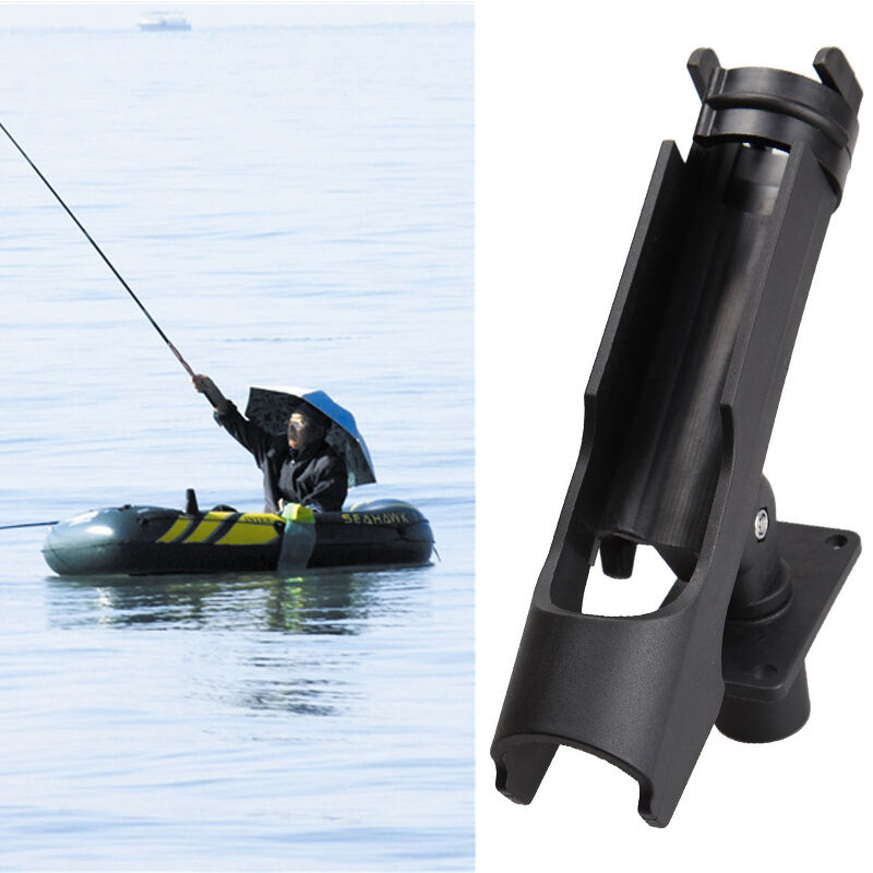 Fishing tackle boat rod holder fishing rod support bracket for Fishing pole holders for boats