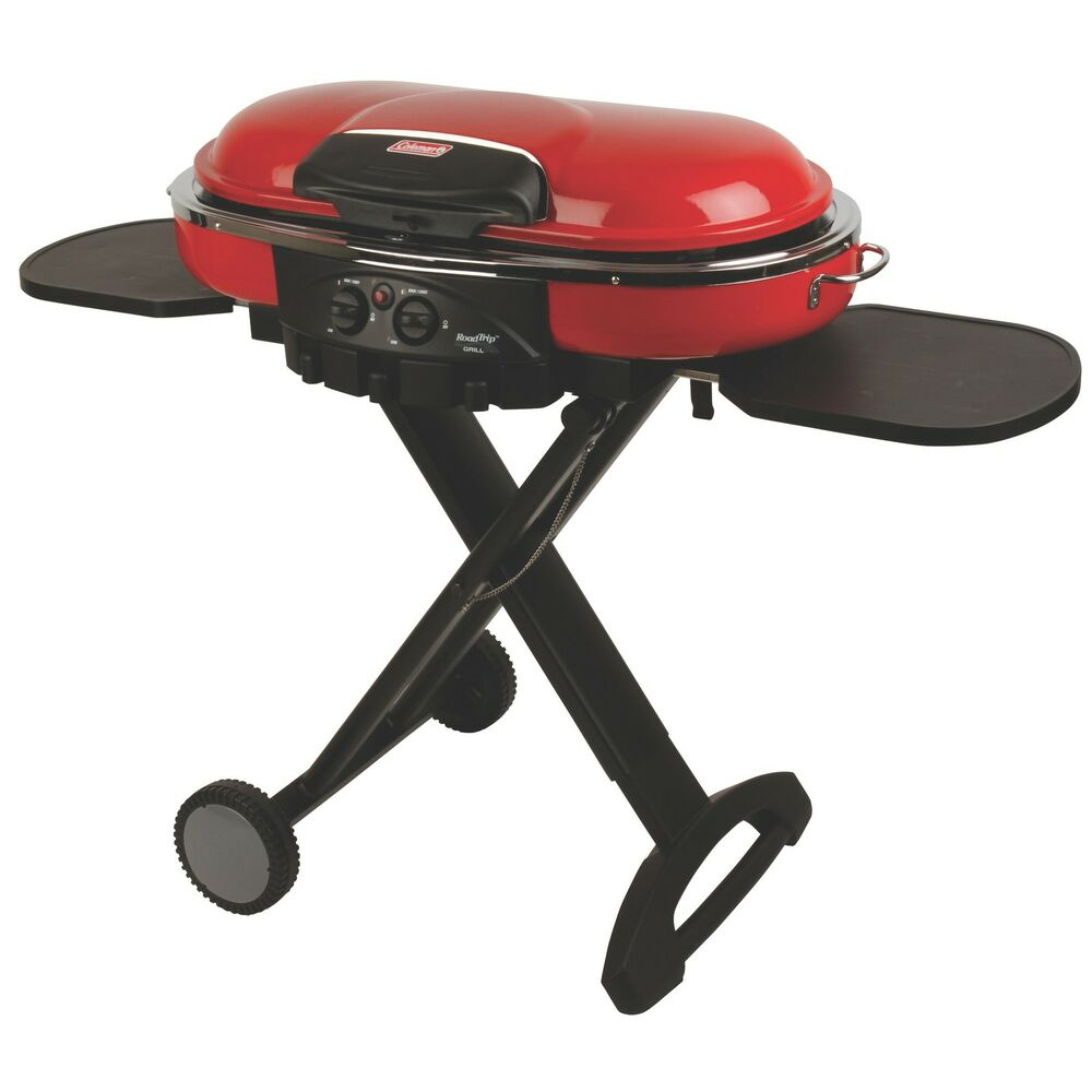 coleman roadtrip lxe portable matchless camping bbq grill red 2000020937np ebay. Black Bedroom Furniture Sets. Home Design Ideas