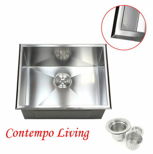 23 Quot Topmount Drop In Stainless Steel L Kitchen Utility