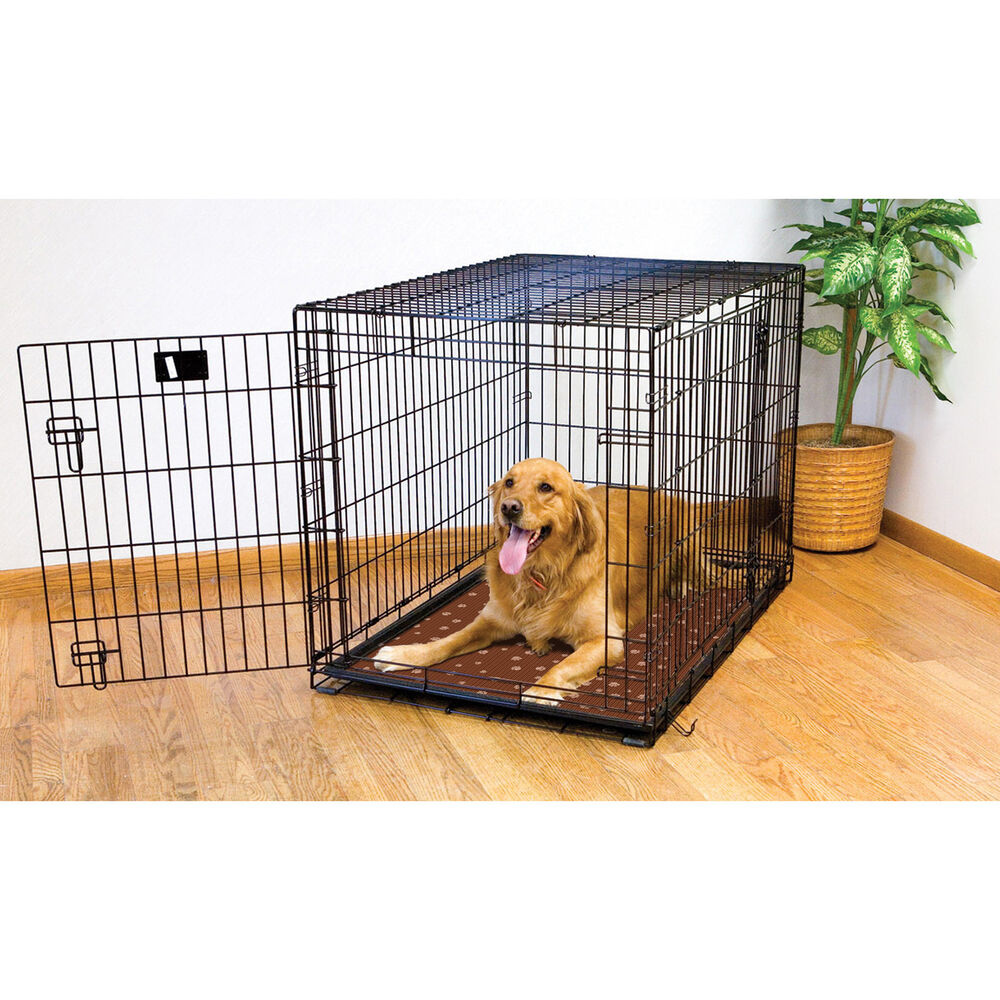 Drymate multicolor waterproof dog crate mat ebay for Dog kennel liner