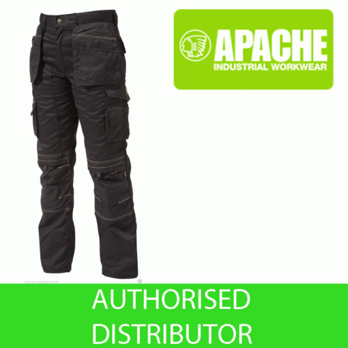 Apache Black Knee Pad Holster Work Trouser APKHT- BLACK