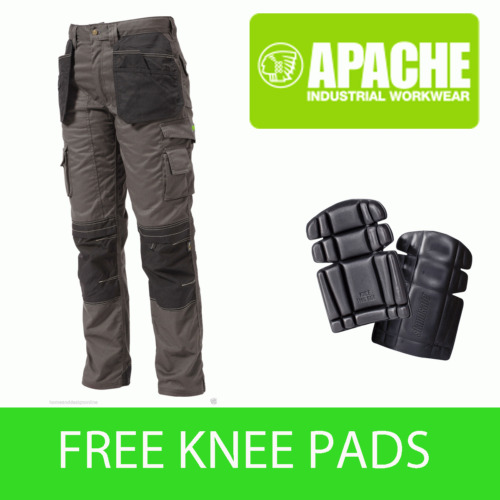 Apache Knee Pad Holster Work Trouser APKHT- GREY - Knee Pads Included
