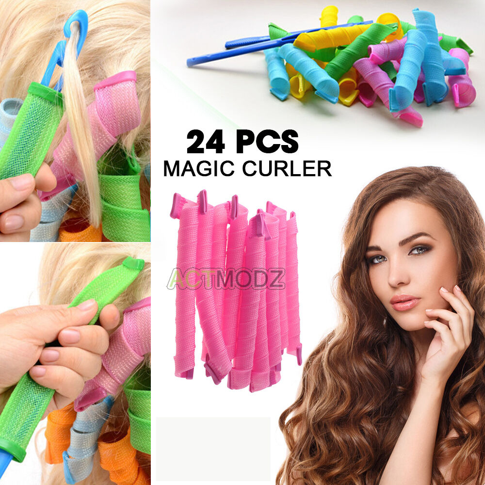New 24pcs Hair Rollers Diy Curlers Large Magic Circle