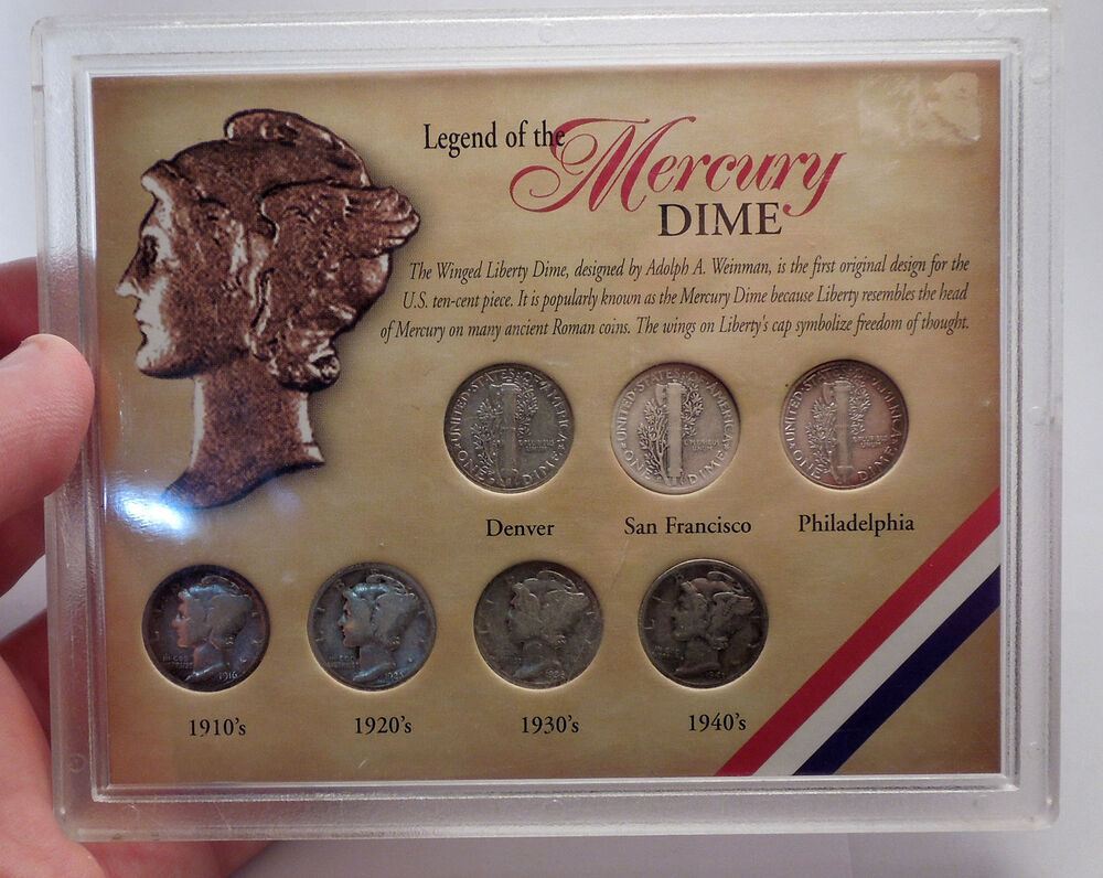 United States Silver Mercury Dime Coin Collection 1910s 20s 30s
