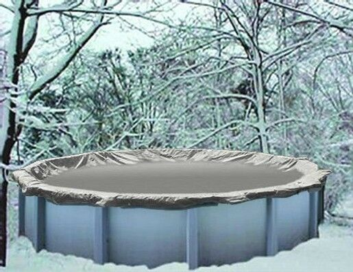 24 39 Round Above Ground Heaviest Silver Winter Swimming Pool Solid Cover 20 Yr Ebay