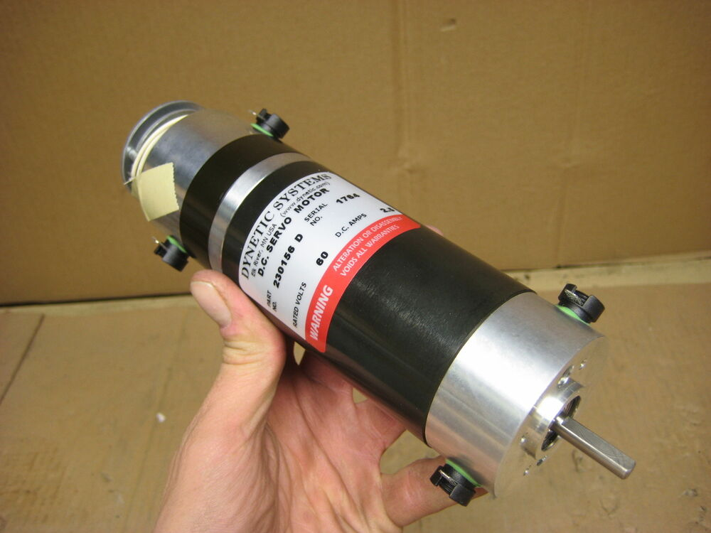 Servo motor dynetic systems 60v dc 2 5 amps 230156d ebay for Servo motors and drives