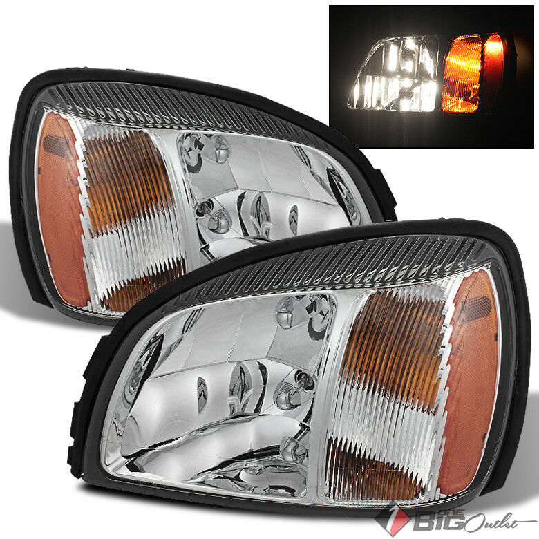 Details About For 00 05 Deville Headlights Front Head Lamps Lh Rh Replacement