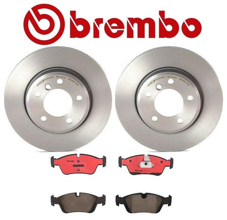 2 Pack Brembo Front Brakes Disc Rotors Bosch Brake Pad Set
