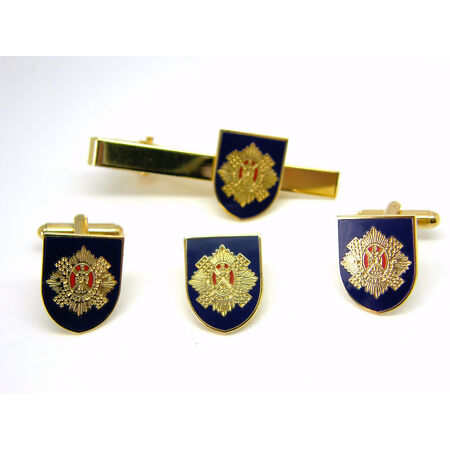 img-THE ROYAL SCOTS ARMY CUFFLINKS TIECLIP LAPEL BADGE MILITARY GIFT BOX SET