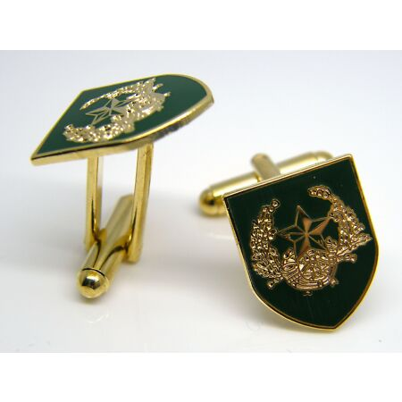 img-THE CAMERONIANS ARMY BADGE CUFFLINKS MILITARY ENAMEL GIFT IN BOX
