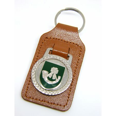 img-THE LIGHT INFANTRY MILITARY ARMY BADGE LEATHER KEYRING KEY FOB GIFT