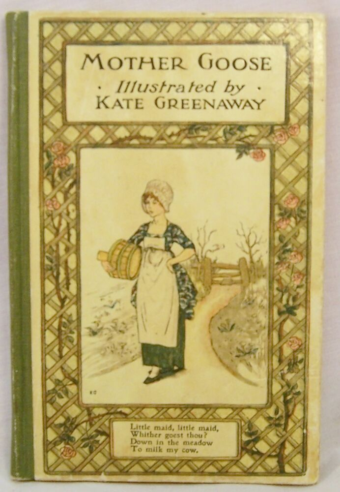 The Illustrated Mum Book Cover : Mother goose illustrated by kate greenaway pre lovely