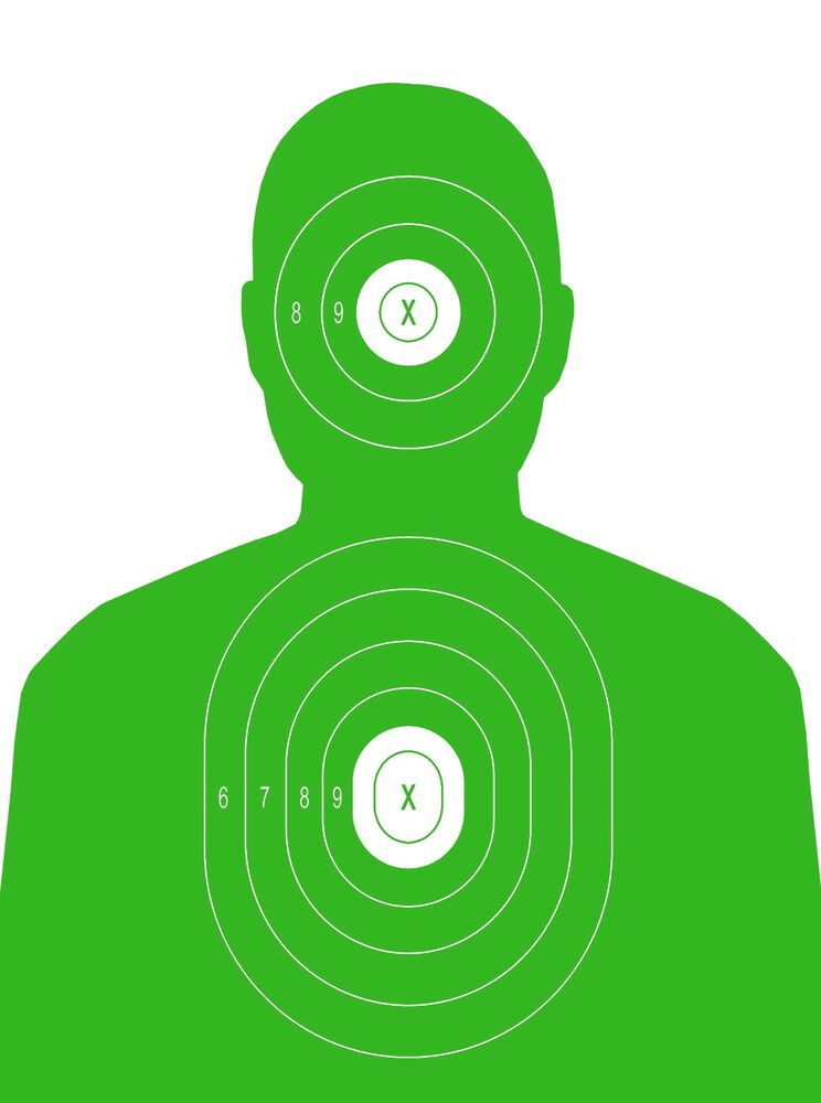 Exceptional image pertaining to printable silhouette target