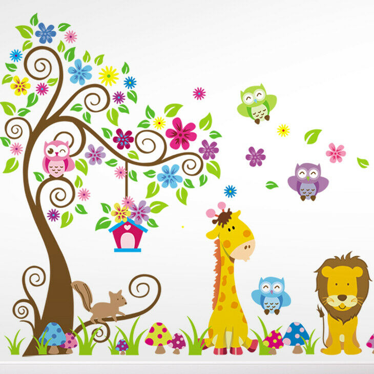 Wandtattoo wandsticker wandaufkleber kinderzimmer wald for Kinder wandsticker