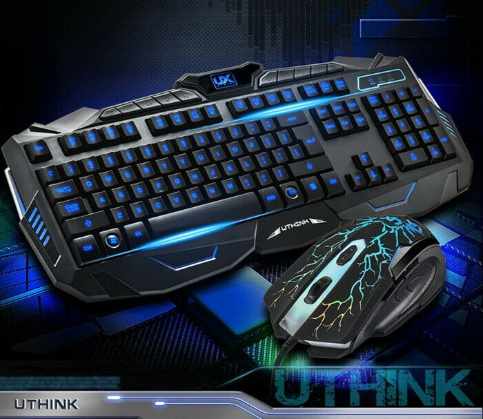 Aninimal Book: USB LED Light Gaming Keyboard and Mouse Set Kit for ...