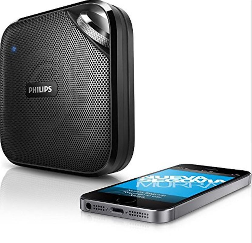 Philips BT2500B/37 Wireless Portable Bluetooth Speaker With Mic