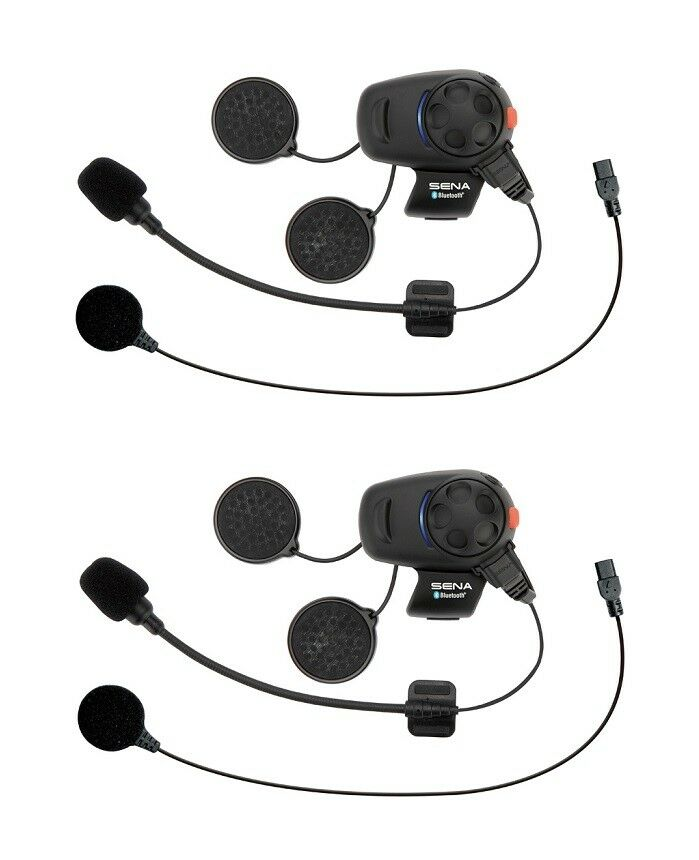 sena smh5 dual motorcycle bluetooth headset intercom smh5d univ ebay. Black Bedroom Furniture Sets. Home Design Ideas