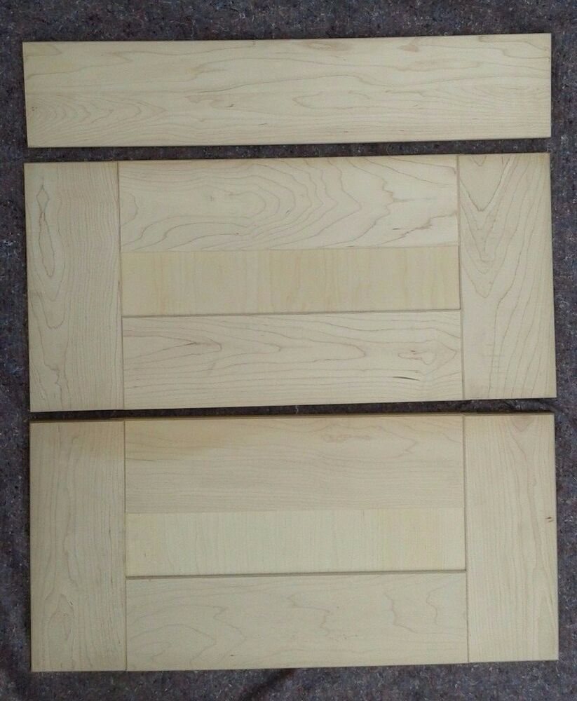Solid Maple Wood Shaker Paneled Glazed Kitchen Cupboard Drawer Fronts Untreated Ebay