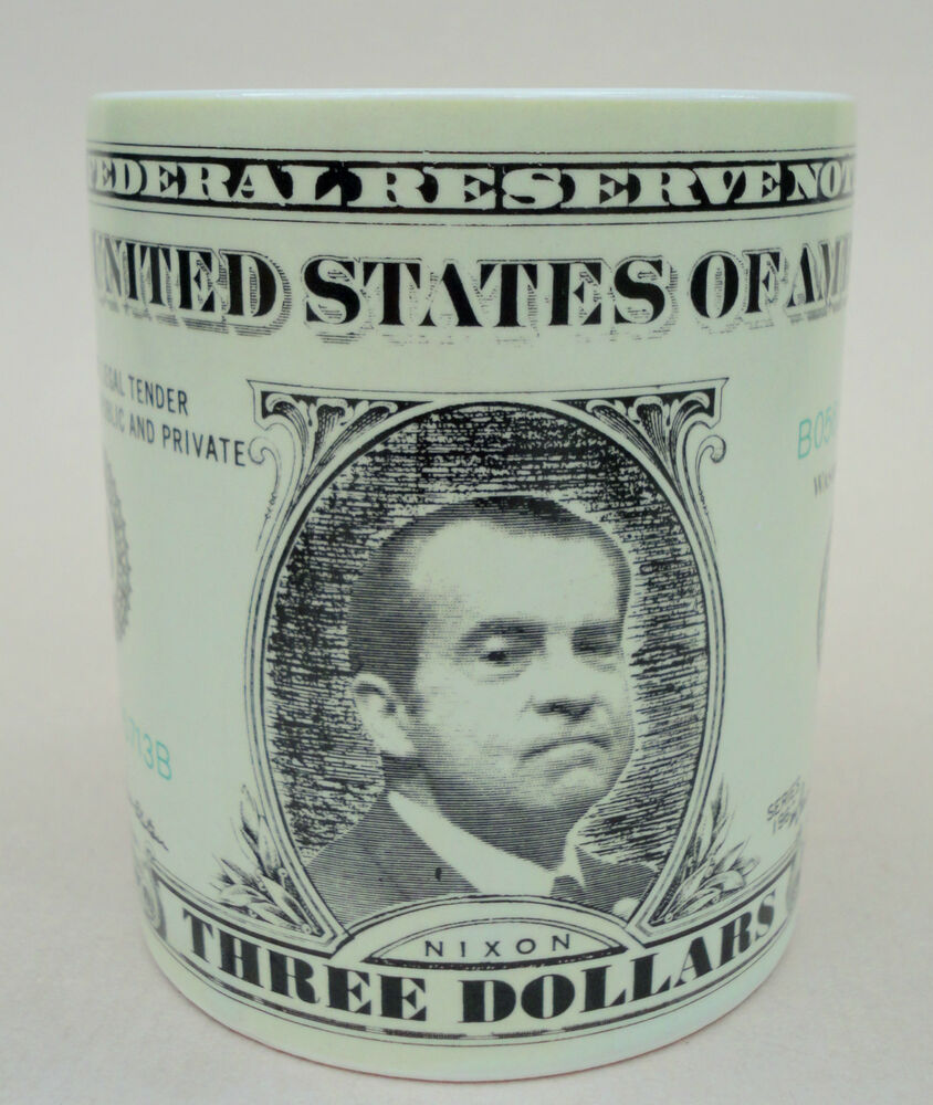 Coffee Mug Holt Howard President Nixon Picture $3 Dollar