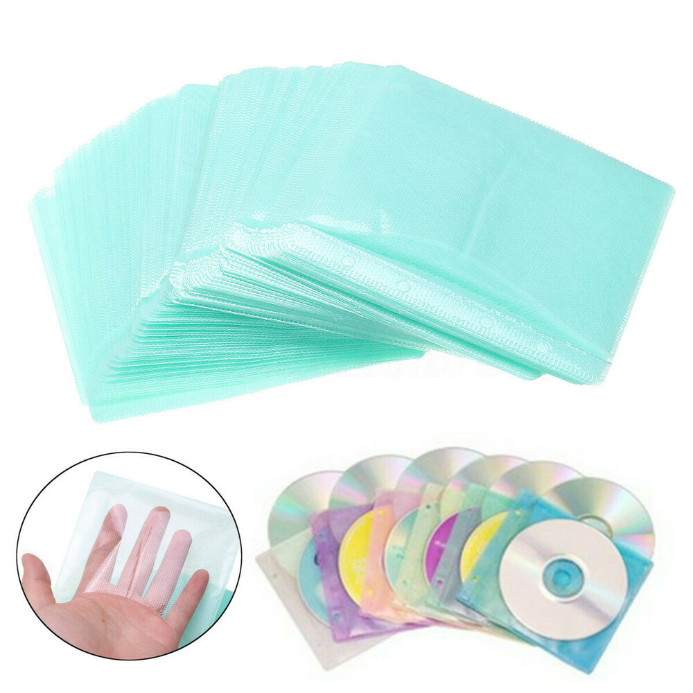 200pcs Cd Dvd Double Sided Cover Storage Case Pp Bag