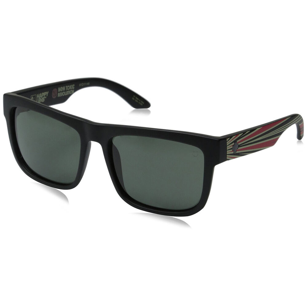 8d6b77b275 Details about Spy Optic Discord Non-Toxic Matte Black Frame Happy Grey  Green Lens Sunglasses