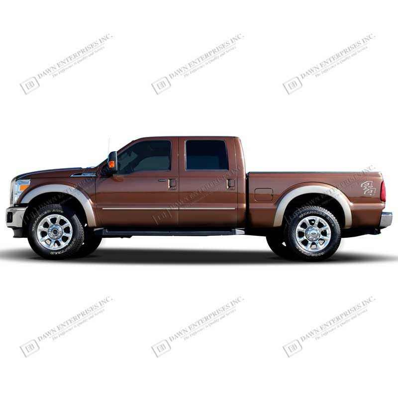 For: FORD F-350 SUPERCREW CAB; Body Side Moldings Moulding