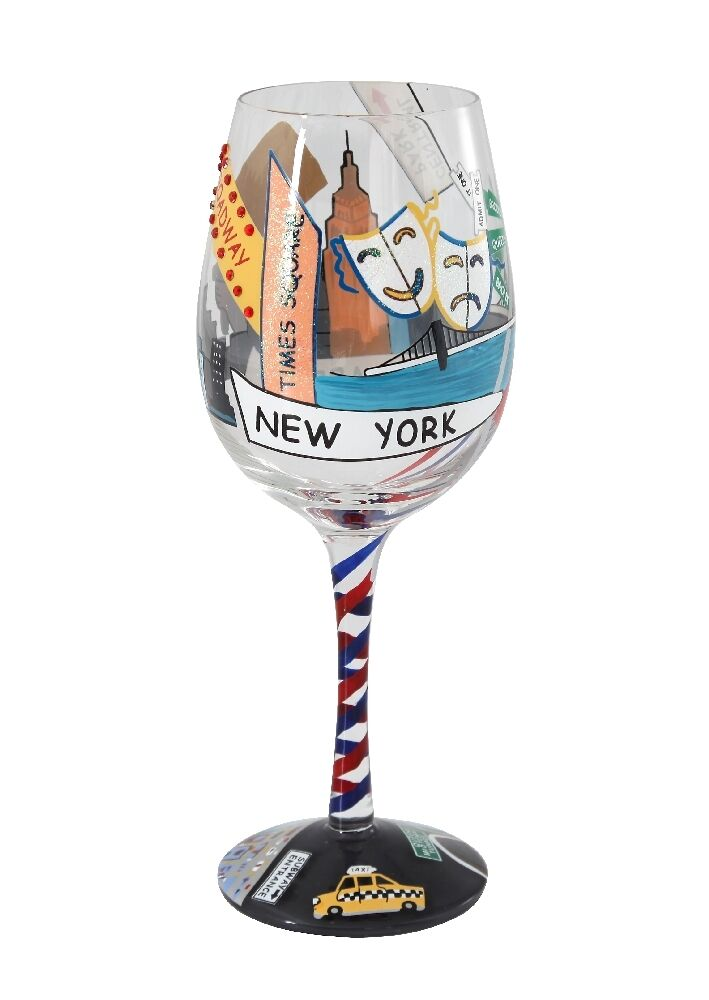Exclusive lolita wine glasses new york glass design hand for Hand designed wine glasses