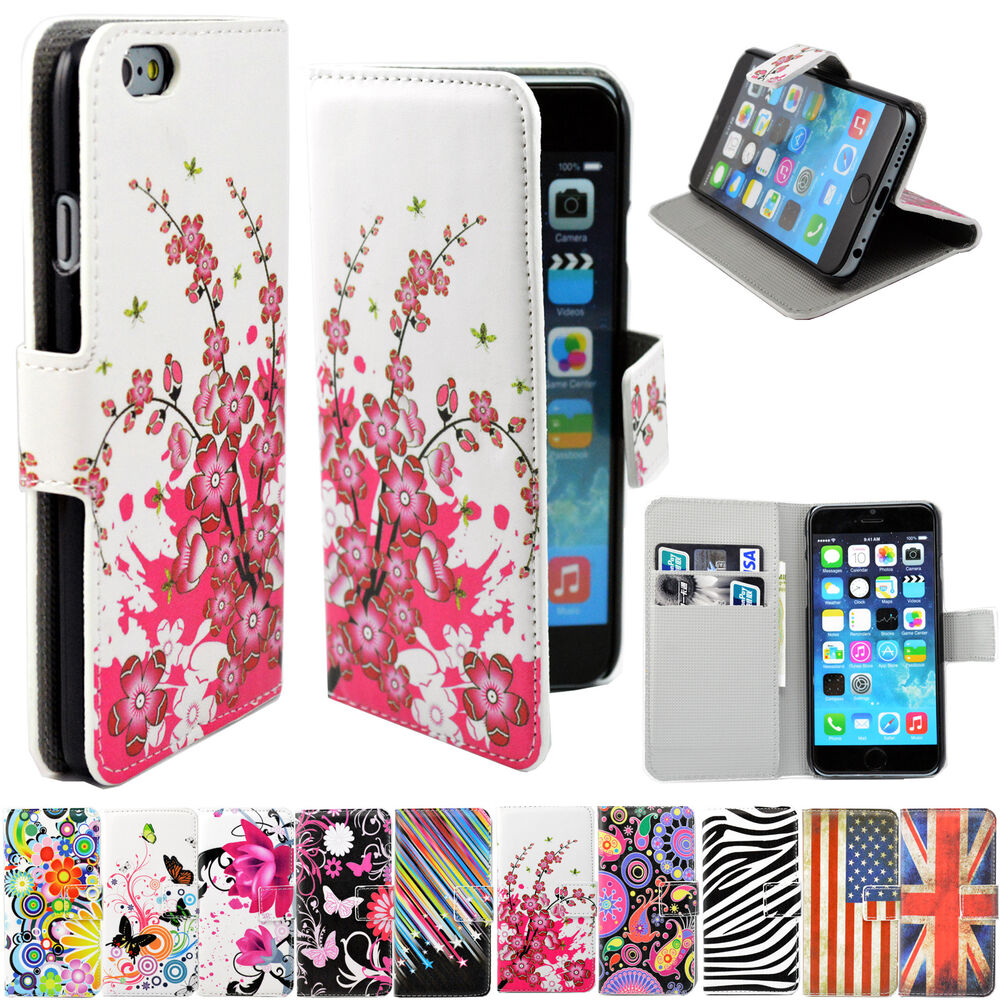 iphone case stand flip leather stand cards wallet phone accessory cover 4791