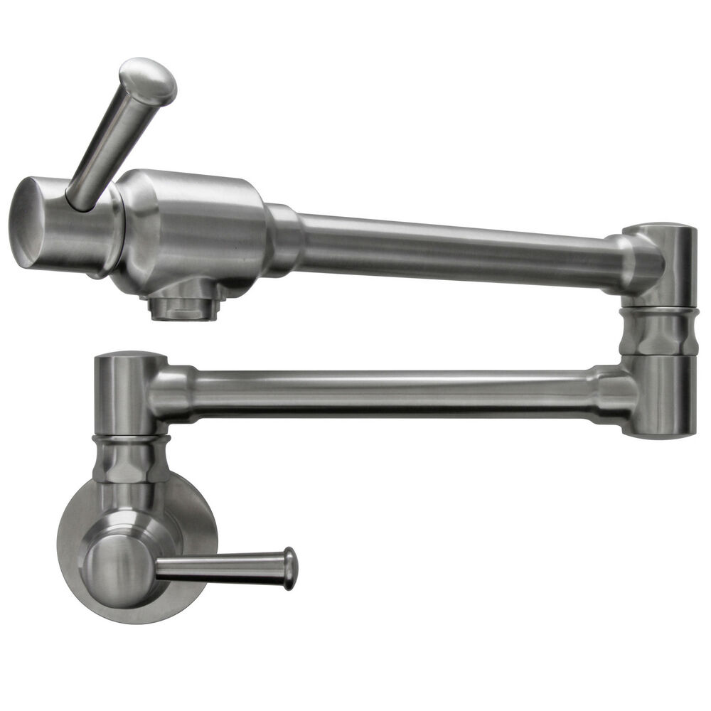 Ticor Brushed Nickel Pot Filler Faucet Ebay