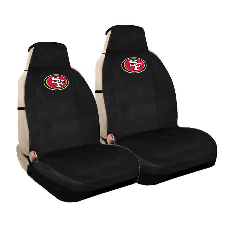 697624e1061 Details about New NFL San Francisco 49ers Universal Fit Car Truck Front  Sideless Seat Covers