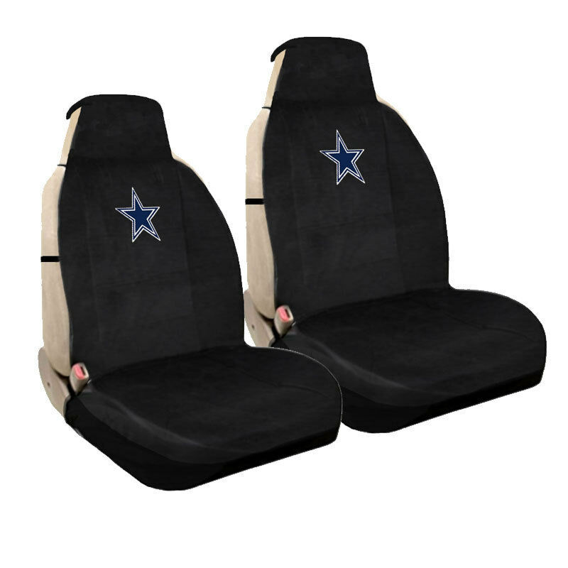 brand new nfl dallas cowboys universal fit car truck front sideless seat covers ebay. Black Bedroom Furniture Sets. Home Design Ideas