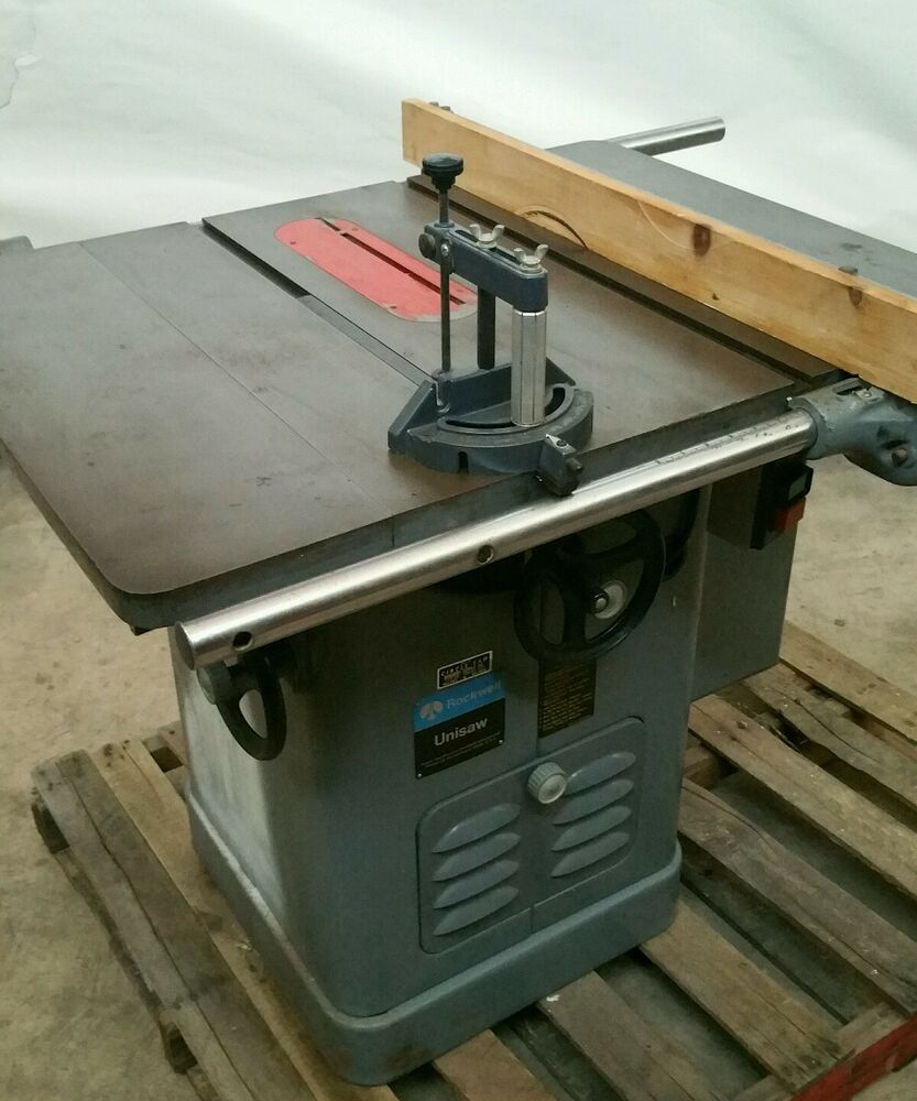Rockwell tablesaw unisaw delta cabinet saw ebay for 10 cabinet table saw