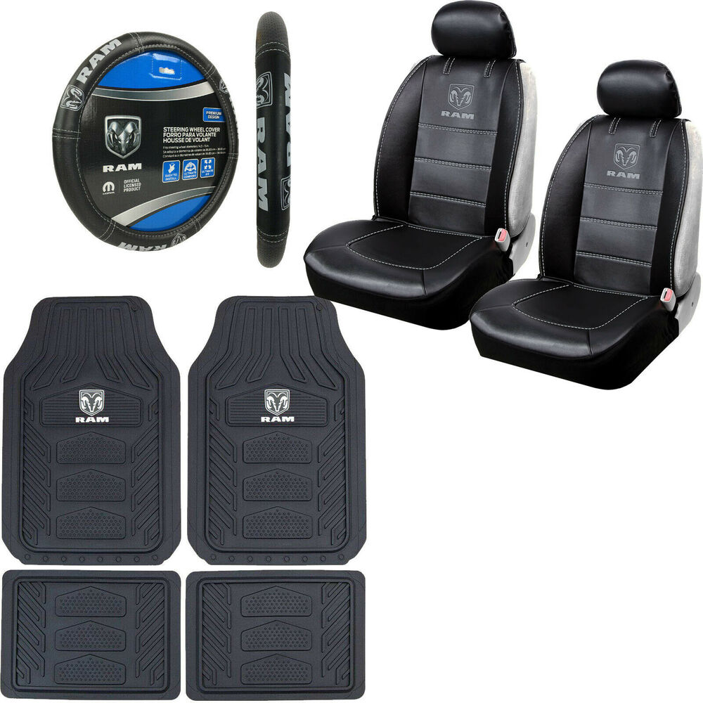 Dodge Ram Seat Covers With Ram Logo: New 9pcs Dodge RAM Logo Car Truck Seat Covers Floor Mats
