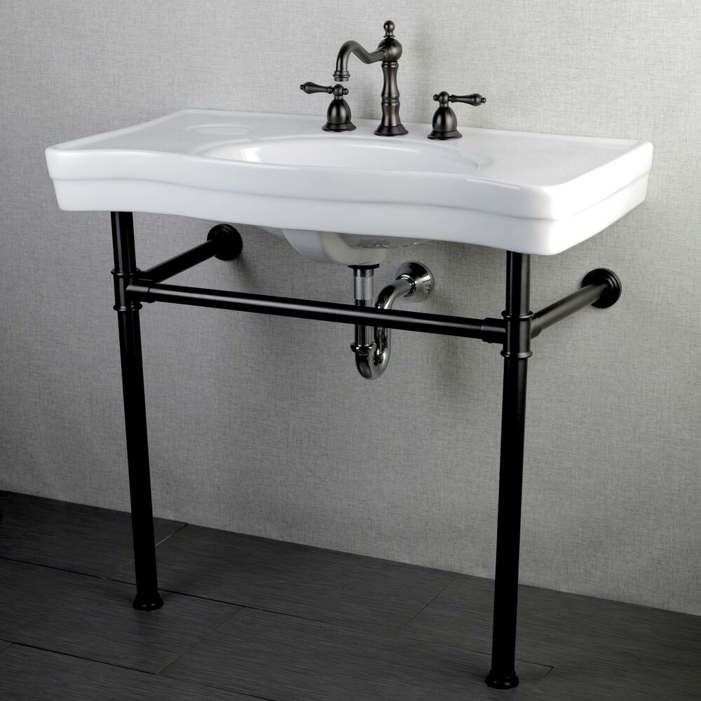 Imperial Vintage 36 Inch Oil Rubbed Bronze Pedestal Bathroom Sink Vanity Ebay