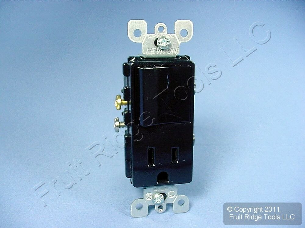 leviton black decora rocker light switch receptacle power