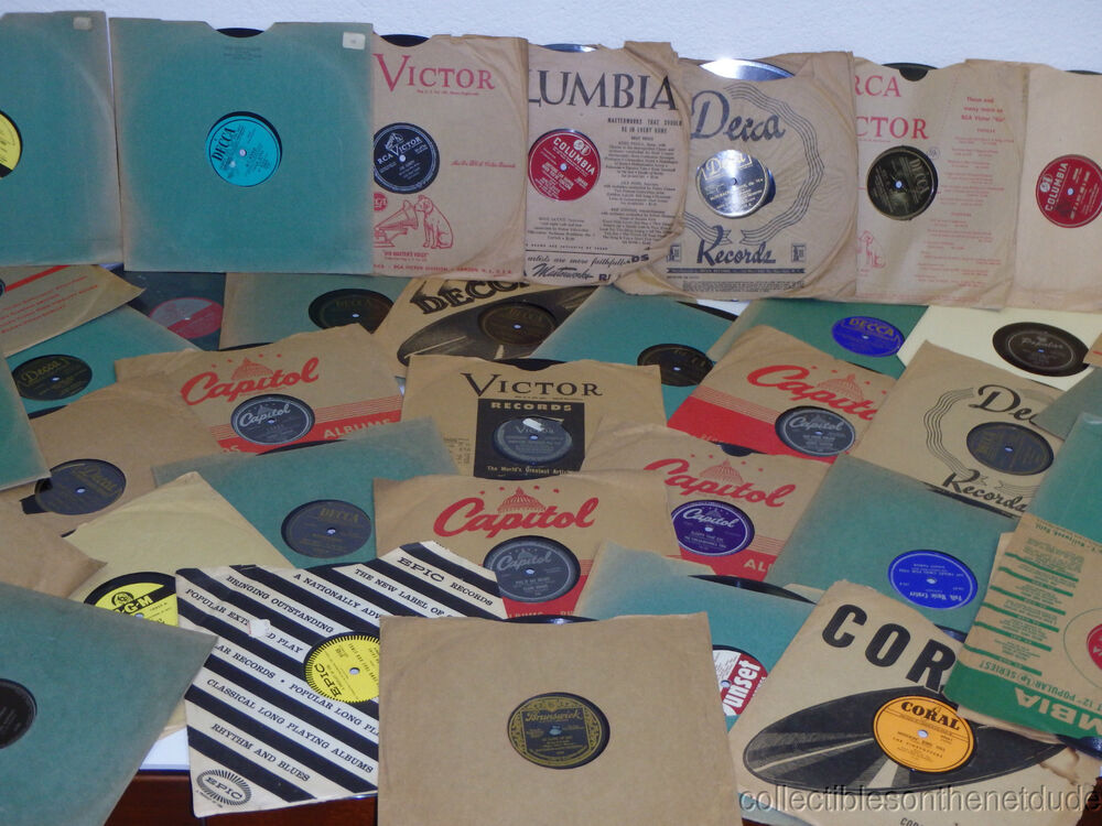 Great lot of 24 78 rpm 10 records in sleeves resale for Wholesale craft supplies for resale