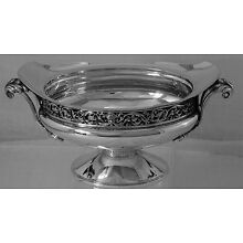 Fabulous Art Nouveau Sterling Silver Oval Candy Bowl by Gorham Co., No Mono