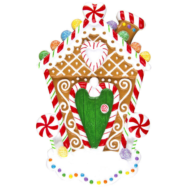 Gingerbread house personalized christmas tree ornament ebay for Custom christmas tree ornaments