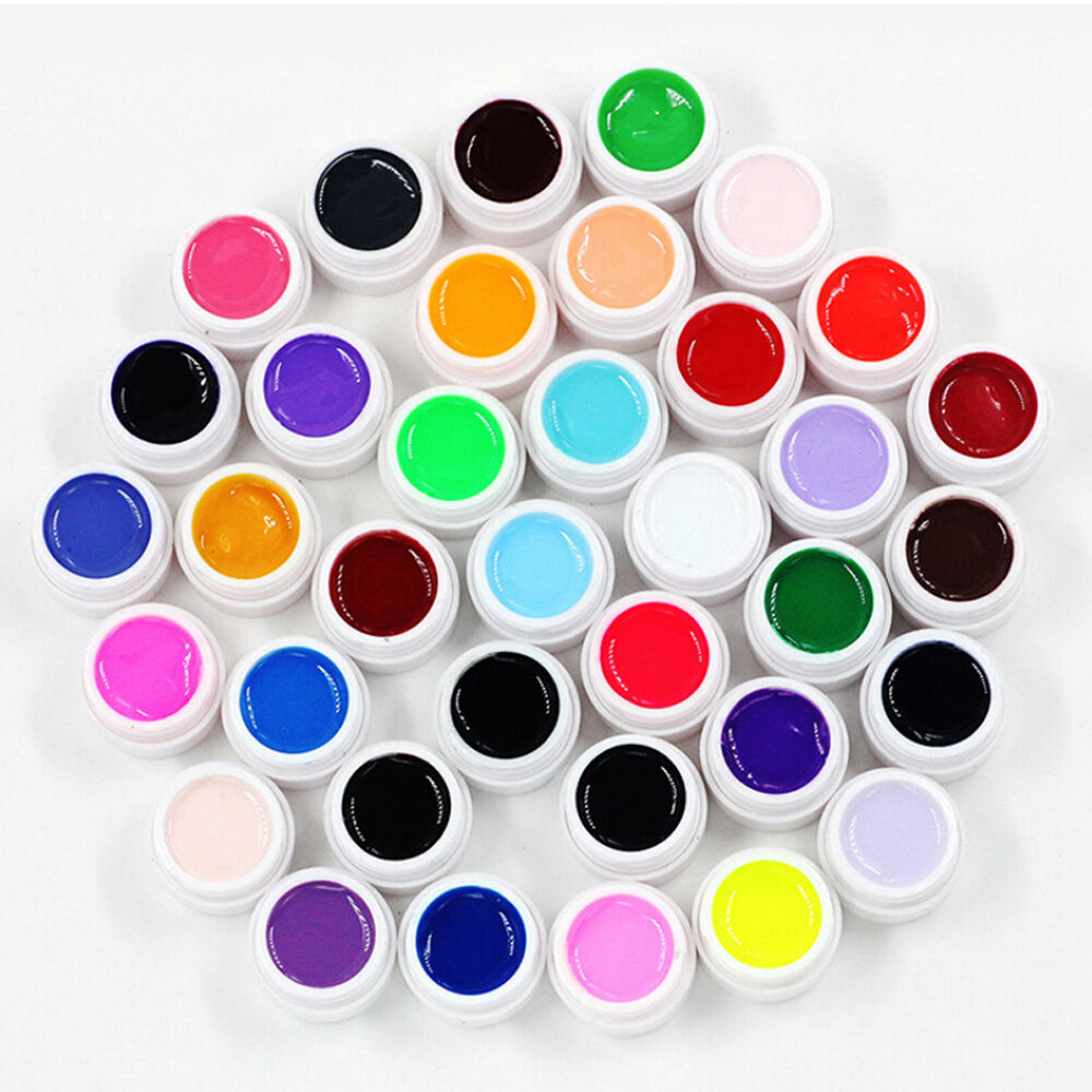 10 pure colors uv nail polish gel decor nail art tips for Decoration fenetre gel