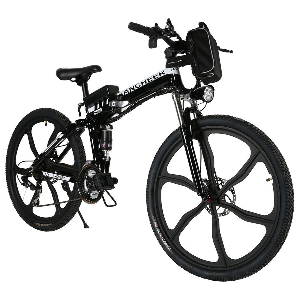 26 ebike 36v mens electric mountain bike fat tire. Black Bedroom Furniture Sets. Home Design Ideas