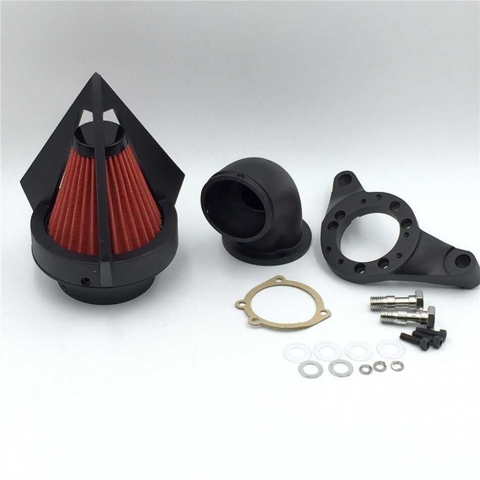 matte black triangle spike air cleaner for harley cv