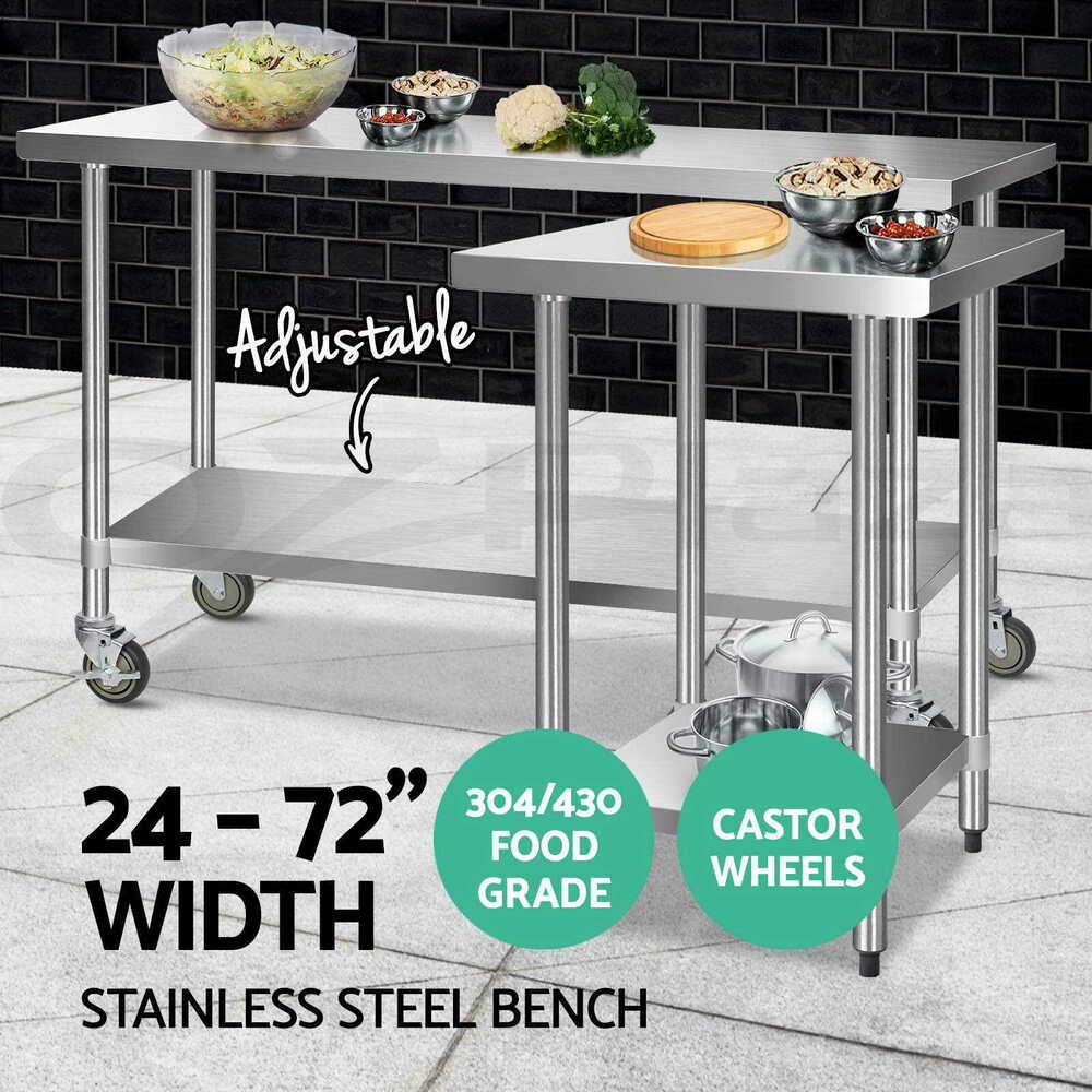 Cefito 304 430 Commercial Stainless Steel Kitchen Bench