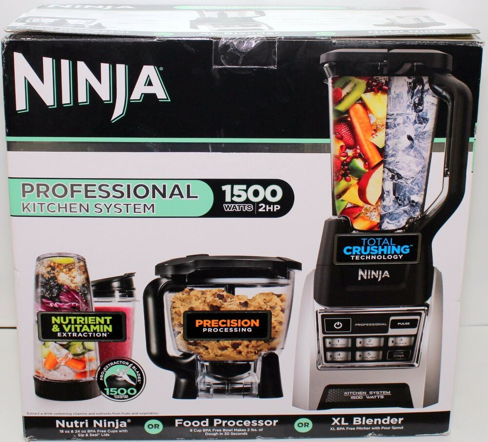 Ninja Kitchen System 1200: NINJA Professional Kitchen System 1500W (2HP) BL685-30