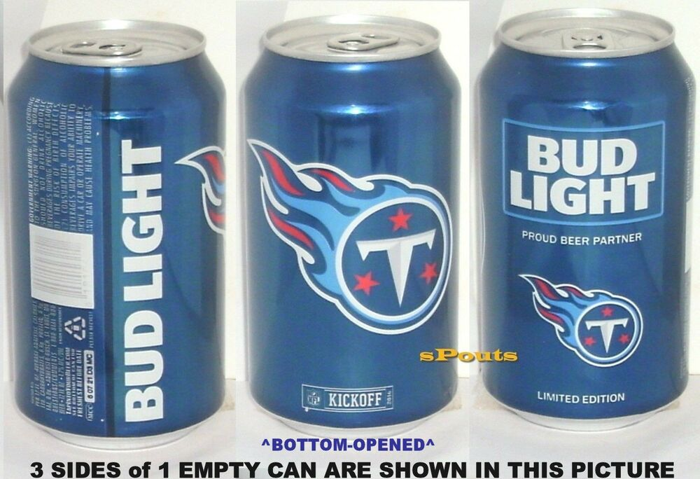 2016 Tennessee Titans Bud Light Nfl Kickoff Beer Can Tn